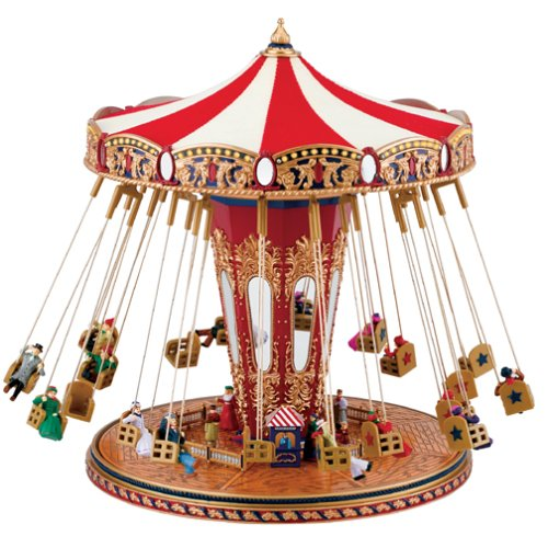 Gold Label World's Fair Swing Carousel Music Box by Gold Label