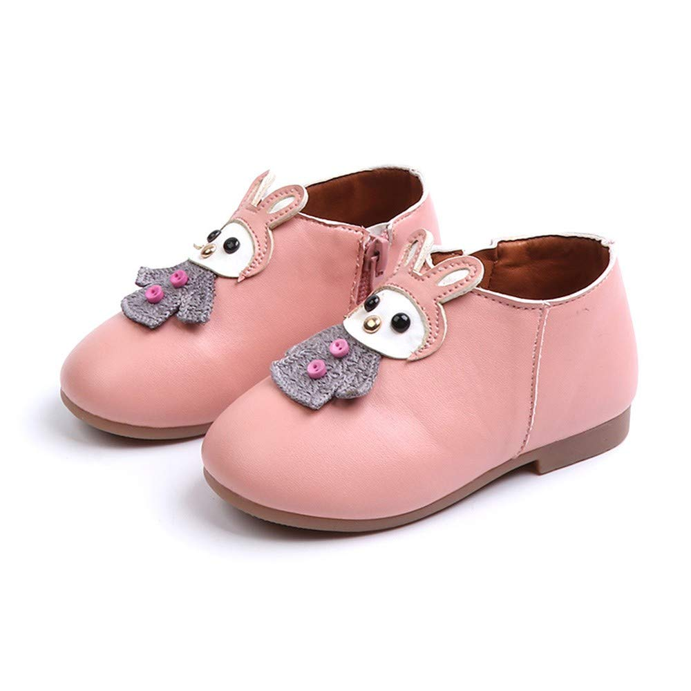 Toddler//Little Kid Lurryly❤Kids Casual Shoes for Girls Short Martin Boots Leather Sport Shoe