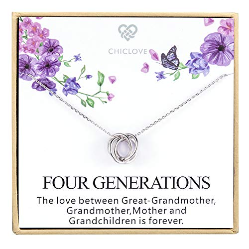 Four Generations Necklace for Great Grandmother