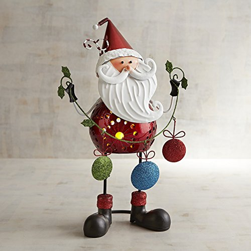 Pier 1 Imports Bobblehead Santa Tealight Candle Holder (Pier 1 Imports Decor)