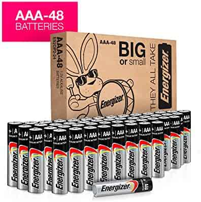 Energizer AAA Batteries, Double A Battery Max Alkaline (48 Count) E92BP-24