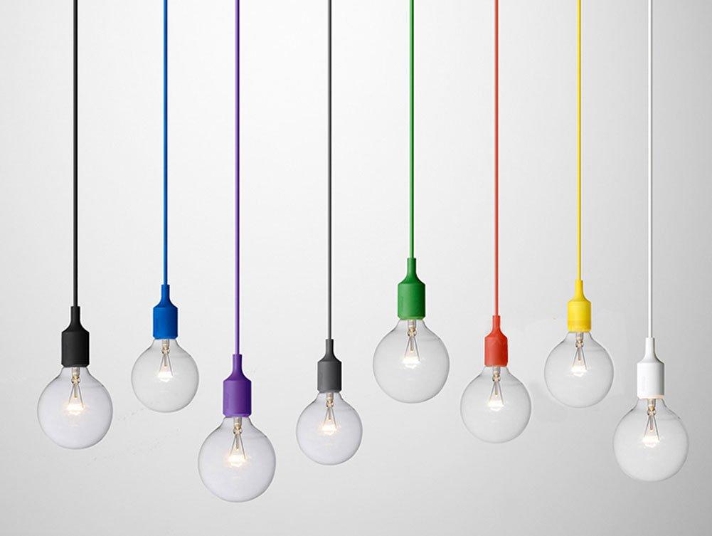 Lampadari Plafoniere Rosse : Cozyle ciondolo silicone semplice colorati appesi a luci rosse