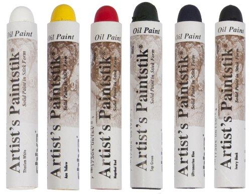 - Jack Richeson 121302 Shiva Oil Paintstik, Basic Colors, Set of 6