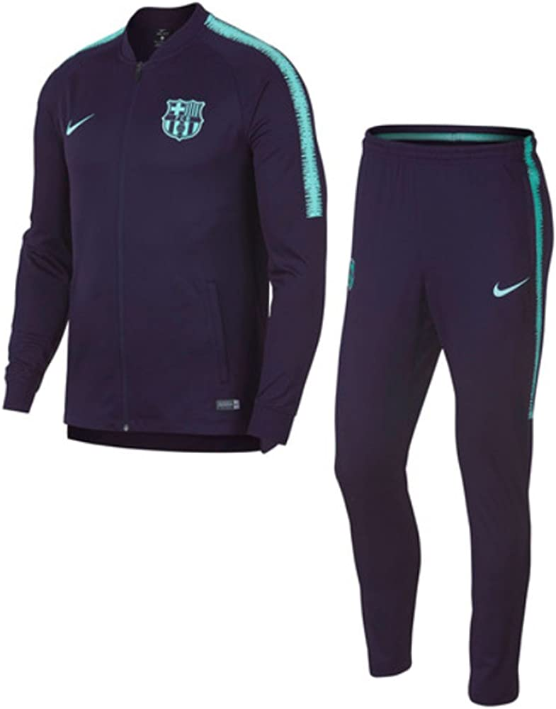 Nike 2018-2019 Barcelona Squad Knit Tracksuit (Purple): Amazon.es ...