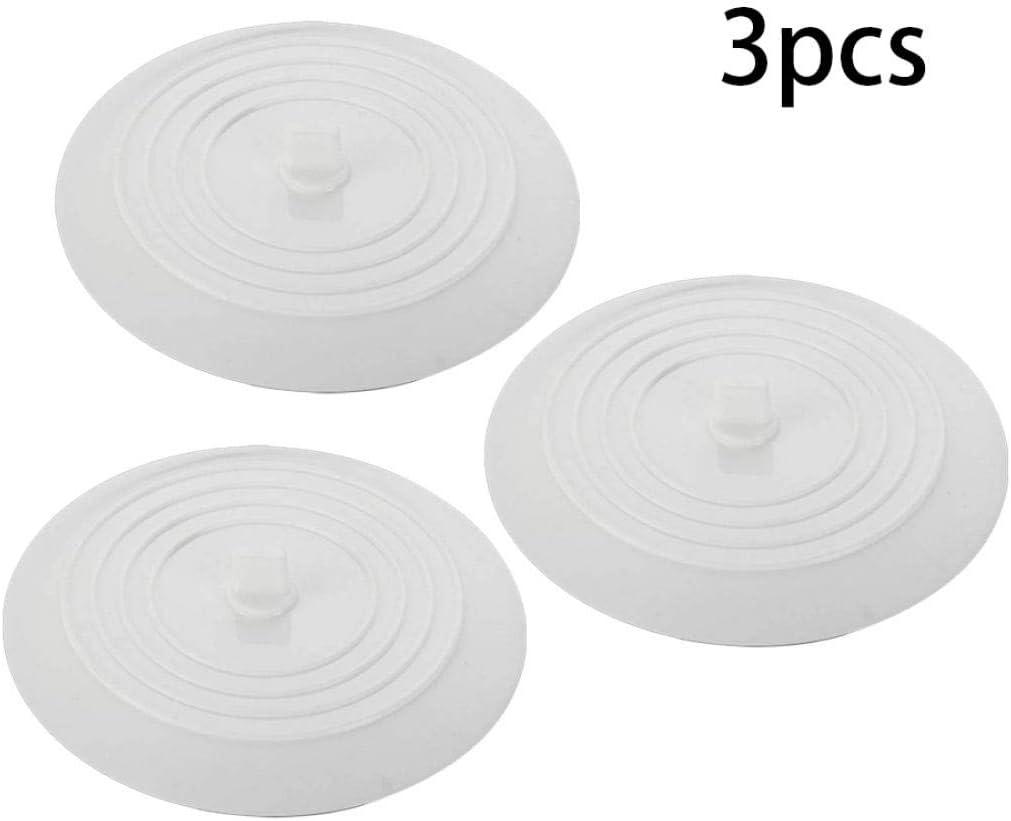 Sanfiyya Plana Receptor complementario de Silicona Fregadero colador de hidromasaje tap/ón de Pelo Filtro de Cocina Accesorios de ba/ño 3PCS