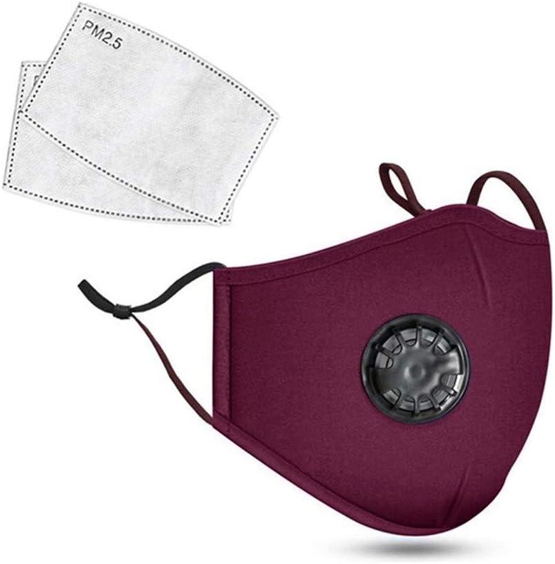 JIekyoi Lavable Facial Protección Cubrir + Junta de Filtro, para Hombres Y Mujer, Reutilizable, A Prueba de Polvo Anti-Spray, Pantalla Protectora Cara, Protector Facial Tela - One Size