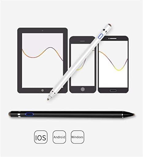 Mobile Computer Tablet Touch Capacitor Handwritten Touch Screen Pen Comfortable to The Touch Haoyushangmao Advanced Stylus Color : Black Double-Head Rechargeable Active Capacitive Pen
