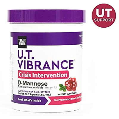 Vibrant Health - U.T. Vibrance - D-Mannose and Botanicals Designed to fight E. Coli and promote UT health, 2.02 ounce