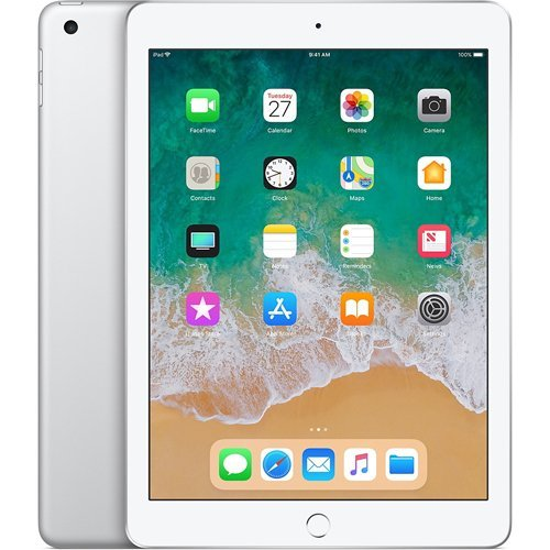 Apple 9.7″ iPad (6th Generation, 128GB, Wi-Fi Only, Silver)