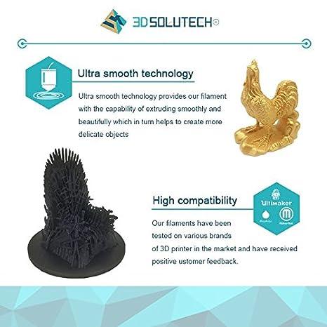 2.2 LBS 1.0KG Dimensional Accuracy +//- 0.03 mm 3D Solutech Hot Pink 3D Printer Ultra PLA Filament 1.75MM Filament