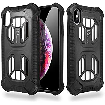AICase iPhone Xs Case,Heat Dissipation Shock-Absorption Anti Scratch Protective Cover Non-Slip Heavy Duty Design for Apple iPhone Xs 5.8'' (Black)