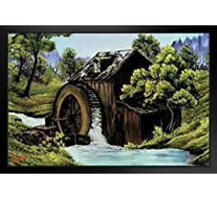 Bob Ross The Old Mill Art Print Painting Framed Poster 14x20 inch Poster Foundry 144859