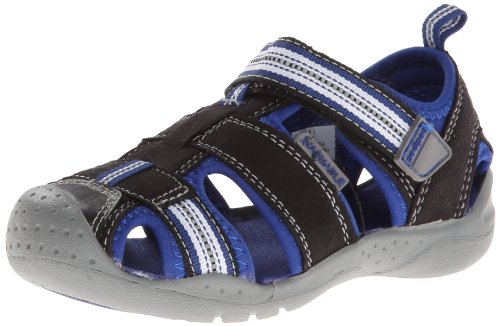 pediped Sahara Sandal ,Black King/Blue,21 EU