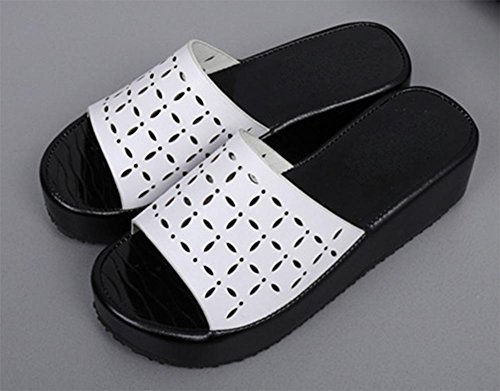 zapatillas de corteza gruesa del mollete sandalias de las mujeres femeninas de verano y zapatillas antideslizantes White