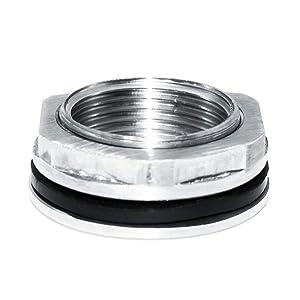 "Beduan 3/4"" FPT Bulkhead Water Tank Connector Stainless Steel Thru-Bulk Fitting"