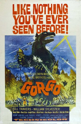 GORGO Movie POSTER 27x40 B Bill Travers William Sylvester Vincent Winter Bruce
