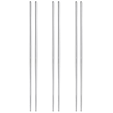 MyLifeUNIT Extra Long 14 Inch Japanese Hot Pot Chopsticks, Stainless Steel Cooking Frying Noodle Chopsticks (3 Pairs Set)