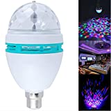 Ibepro® Rotating Strobe LED Crystal Stage Light for Disco Party Club Bar Dj .Ball Bulb Multi Changing Color