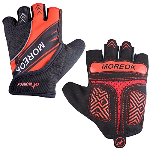 MATT SAGA Reflective Cycling Gloves Half Finger Bike Bicycle Gloves Gel Padded Mountain Bike Road Bike Riding Gloves for Men and Women Shock-Absorbing Breathable Anti Slip