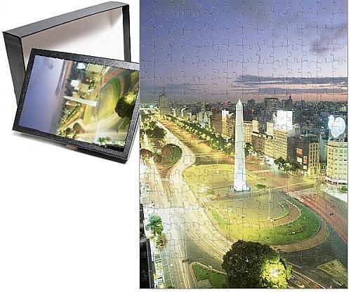 Pillar Obelisk - Photo Jigsaw Puzzle of Plaza de la Republica, the Obelisk and world s widest avenue, Avenida 9 de