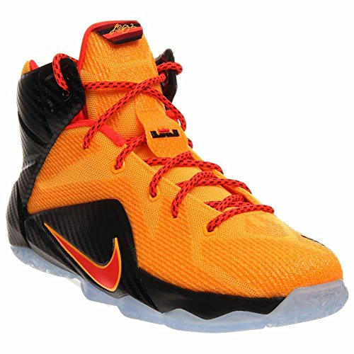 Nike LeBron XII (GS) 685181-830 Laser Orange/Crimson Youth Kids Basketball Shoes (size 5.5Y)