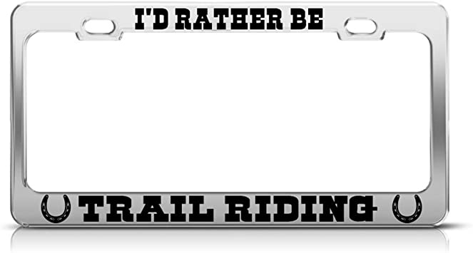 Speedy Pros Metal License Plate Frame Id Rather Be Kayaking Style E Car Accessories Chrome 2 Holes