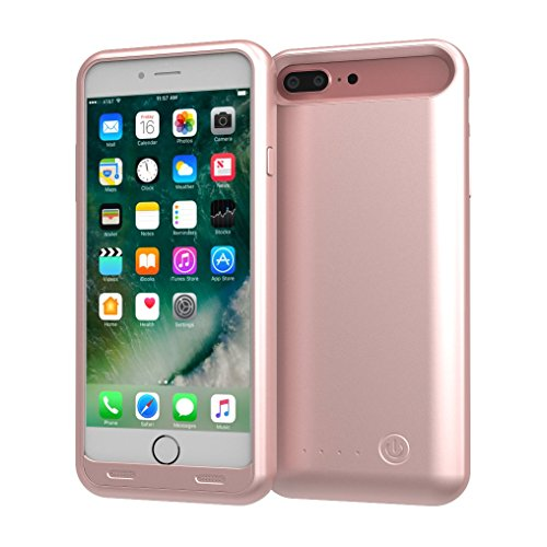TAMO EDGE 4000 mAh Dual-Purpose Ultra-Slim Protective Extended Battery iPhone 7 Plus Case, Rose Gold (Premium Retail Packaging) by TAMO (Image #1)