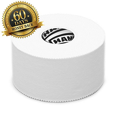 White-Athletic-Sports-Tape-VERY-Strong-EASY-Tear-NO-Sticky-Residue-BEST-TAPE-for-Athlete-Medical-Trainers-PERFECT-on-bat-Lacrosse-Hockey-stick-Lifters-Climbers-Boxing-White-3-Pack