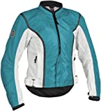 Firstgear Contour Mesh Women's Textile Motorcycle Jacket (Teal, Medium)
