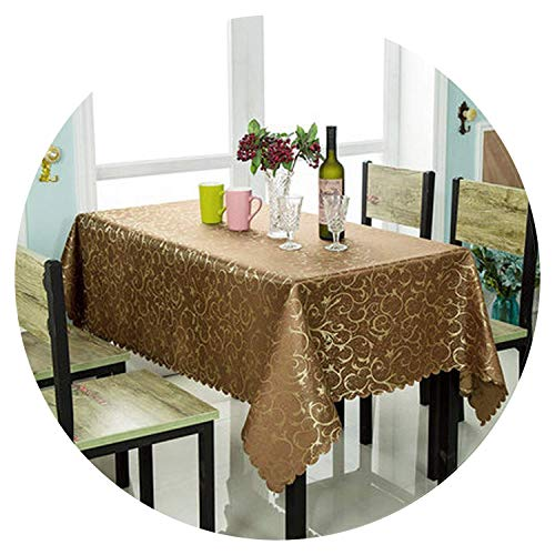 Vs Red Wallpaper Blue - Home 1PC Modern Europe Luxury Crocheted Gold Leaf Polyester Rectangle Banquet Tablecloth for Hotel Restaurant Decoration Table Cover,Coffee,Square 120x180cm,sizecontactus,WineRed