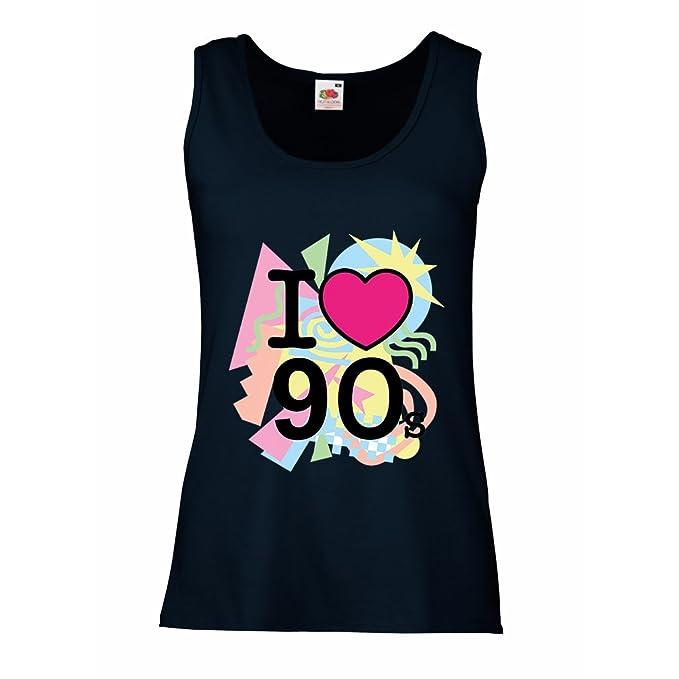 lepni.me Camisetas sin Mangas para Mujer Me encantan los años 90! Banda de Estilo Vintage, Ropa de Fiesta Retro