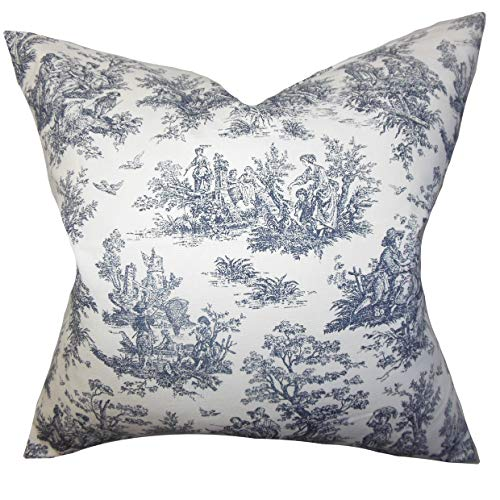 The Pillow Collection Lalibela Toile Bedding Sham Black European/26 x -