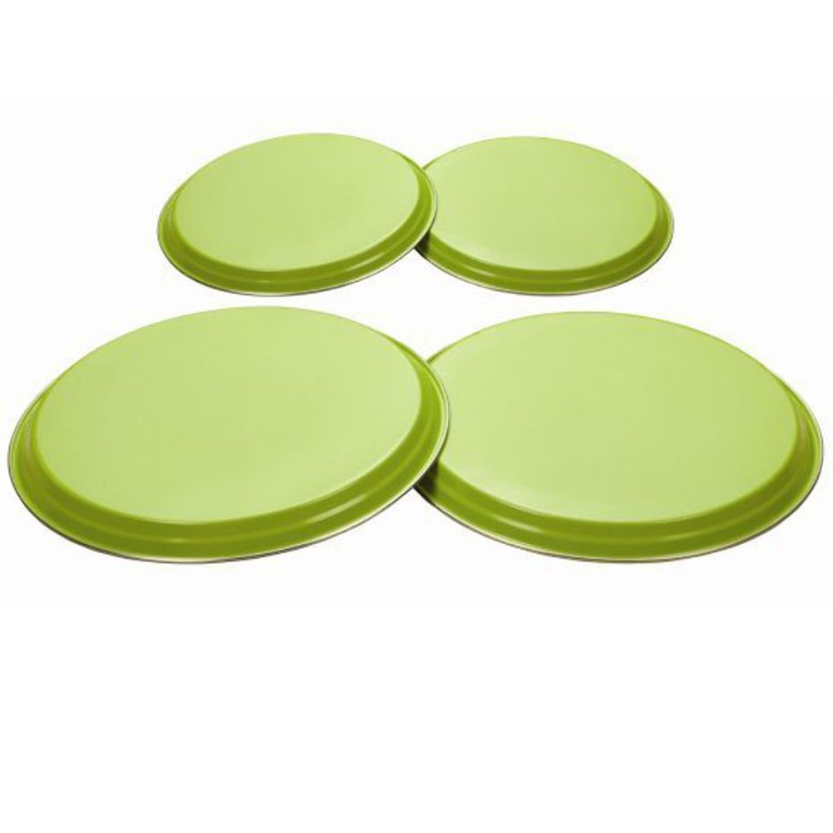 4pcs Hob Covers Reusable Stainless Steel Kitchen Oven Cooker Ring Protector Metal Covers (Lime Green) Party Decor
