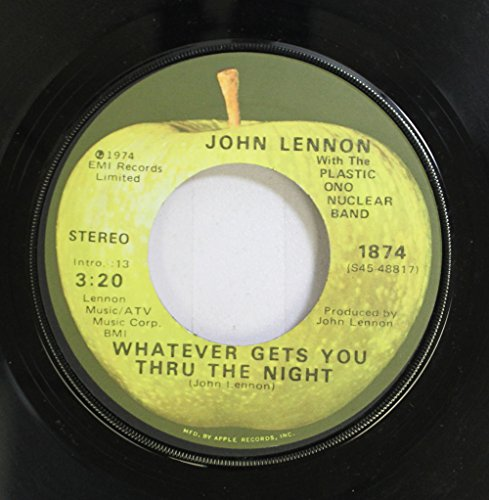 Price comparison product image John Lennon With The Plastic Ono Nuclear Band 45 RPM Whatever Gets You Thru The Night / Beef Jerky