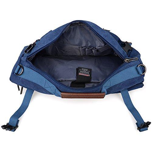 b7057fb928 WITZMAN Men Travel Backpack Canvas Rucksack Vintage Duffel Bag A2021 (21  INCH Blue)