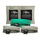 Bamboo Charcoal Air Purifying Bag Starter Kit (8-Pack) 50-g, 100-g & 200-g Activated Charcoal Bags Odor Absorber for Home, Natural Air Purifier Bag, Activated Charcoal Odor Absorber & Deodorizer Bag