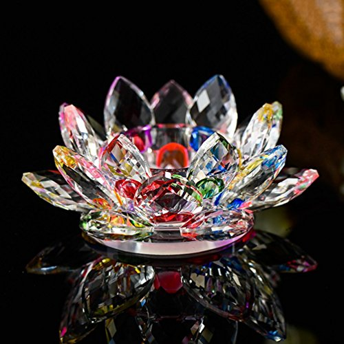 YJY Crystal LED Candle Lamps Holder Night Light,Glass Tea Light Holder Handmade Artwork for Home Decor Christmas Wedding Party Gift (Stained Glass Christmas Candles)