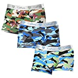 CAIKENI Stretchable Comfort Soft Briefs Mixcolor Mens Underwear Medium Rise 3 Packs Men Underpants