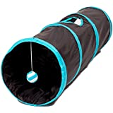 Prosper Pet Cat Tunnel - Crackle Play Toy - Collapsible Chute Fun for Rabbits, Kittens, and Dogs Blue