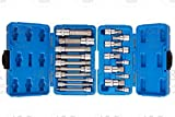 J&R Quality Tools 20pc XZN 12 Point MM Triple Square Spline Bit Socket Set Tamper Proof Set
