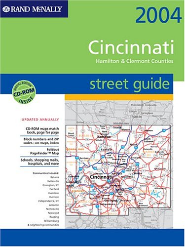 Cincinnati/Hamilton & Clermont Counties, Ohio (Rand McNally Street Guides)