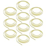 Kmise 10pcs Celluloid 5 Feet Guitar Binding Purfling Strip 1650 x 6 x 1.5 mm Cream