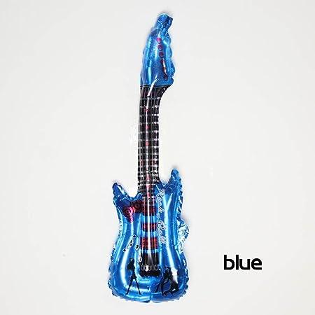 CHENGYUAN 6 UNIDS Globo de Aluminio Inflable Globo de la Guitarra de Juguete de Cumpleaños Clásico de La Boda Juguetes Festivos Decoración Del Partido ...