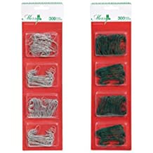 Christmas House Metal Ornament Hooks, 300-ct. Packs (COLORS MAY VARY)