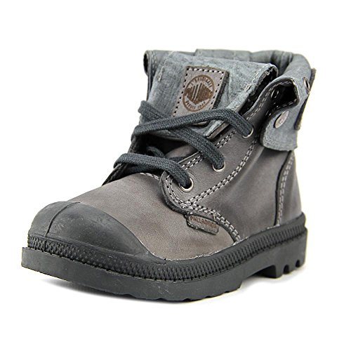 Toddler Pirate Boots (Palladium Infants/Toddlers Baggy Leather Zipper II Boot,Castlerock/Pirate Black,)