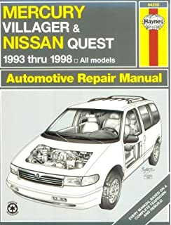 Mercury villager and nissan quest 1993 2001 haynes repair manuals haynes mercury villager and nissan quest 1993 thru 1998 haynes automotive repair manual series fandeluxe Gallery