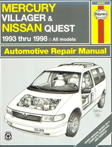 haynes mercury villager and nissan quest 1993 thru 1998 haynes rh amazon com 2002 Mercury Villager Knock Sensor Location 1996 Mercury Villager Engine Diagram
