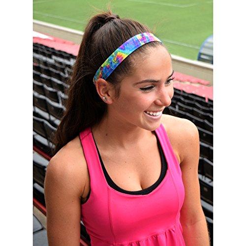 Sweaty Bands Womens Girls Headband - Non-Slip Velvet-Lined Sport Hairband - BE Fun Multi 1-Inch by Sweaty Bands (Image #1)