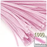 The Crafts Outlet Chenille Stems, Pipe Cleaner, 20-inch (50-cm), 1000-pc, Light Pink