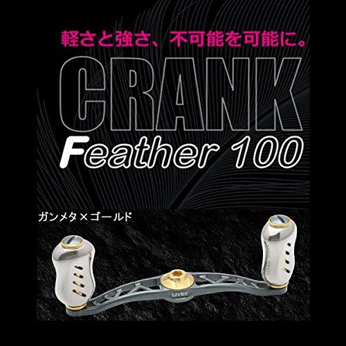 リブレ(LIVRE) フルコンプ クランクフェザー シマノ用 右巻き GMG(ガンメタ×ゴールド) 100mm FRSF100-FI-GMG   B013ISZGC2